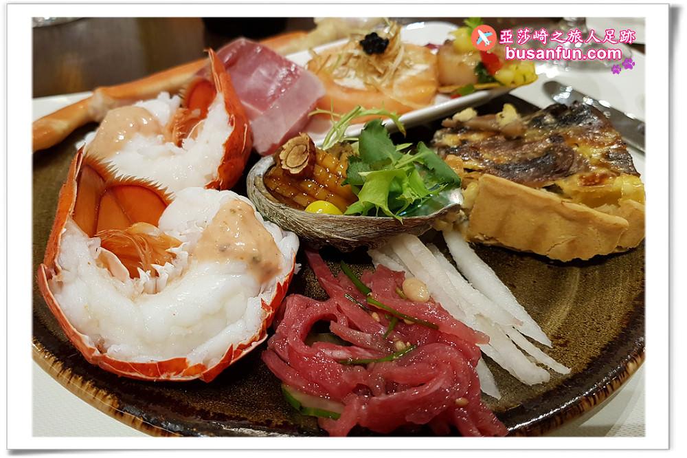 濟州神話世界渡假酒店-藍鼎廳,龍蝦雪蟹鮑魚黑鮪魚吃到飽+華麗甜點區 從此濟州玩不停