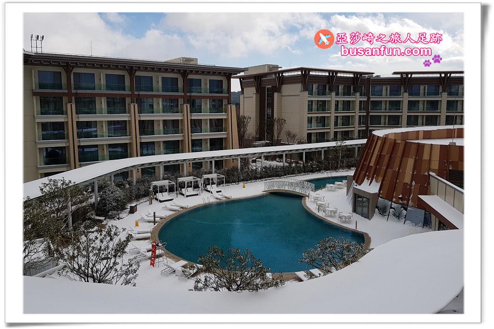 濟州神話世界入住藍鼎渡假酒店吃喝玩樂通通有 飯店設施與庭園雪景