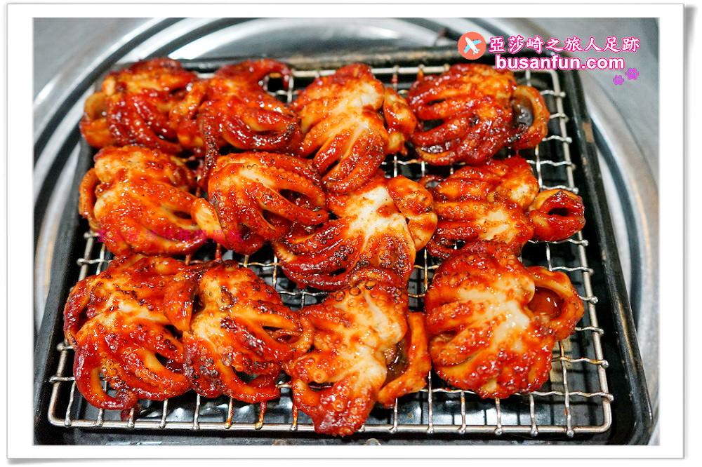 釜山西面美食|喜兒家碳烤章魚&綠豆煎餅還有章魚炒飯也必點|喜兒家烤章魚獨家吃法、交通指引、韓文菜單翻譯