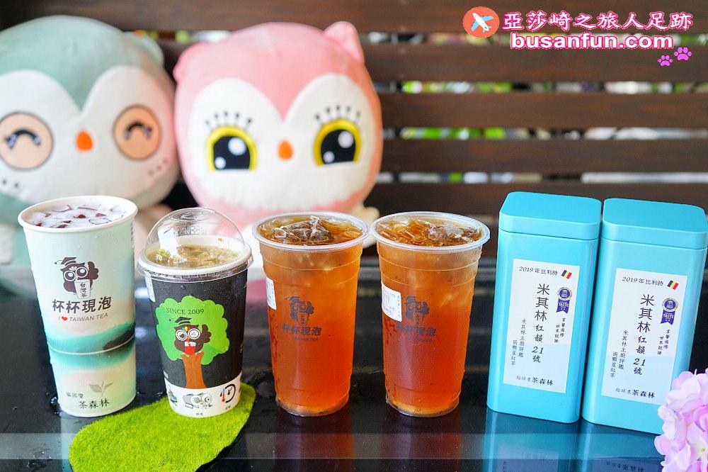 台中西屯路|貓頭鷹茶森林100%台灣茶杯杯現泡iTQi米其林紅韻21號天然花果香回甘好茶