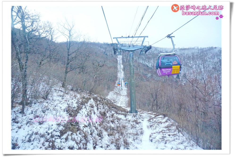 江原道景點|發王山纜車找鬼怪拍攝地飛越龍平度假村滑雪場