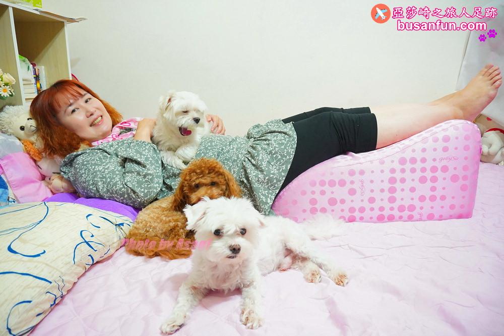GreySa格蕾莎抬腿枕推薦給久坐久站容易腿部水腫的人&一枕多用居家生活使用分享